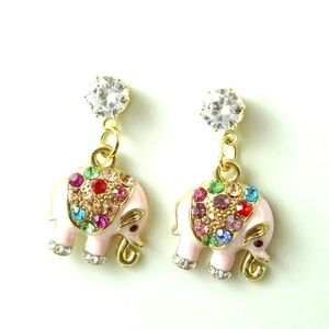 Just in! Adorable Elephant Earrings by Betsey J.